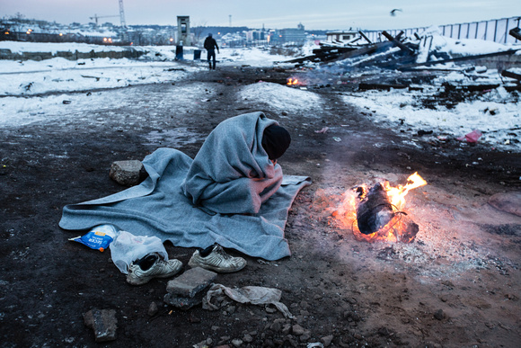 Refugees in Serbian winter cold